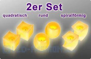 LED-Kerzen aus Echtwachs