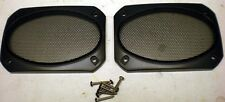 """4x6"""" Two - 2 Black Speaker Grills, Screens, Covers, Classic, Deluxe"""