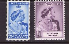 FALKLAND ISLANDS 1948 Silver Wedding,multiple,multi-colour superb MNH
