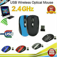 NEW 2.4GHz Wireless Optical Mouse/Mice + USB 2.0 Receiver for PC Laptop USA