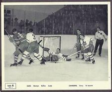 1945-54 Quaker Oats SERIES A, No.3, Leafs vs Habs, Rollins Lies Down on the Job