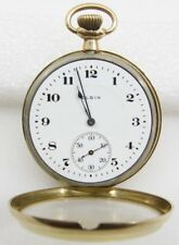 Elgin 14K Solid Gold 17 Jewels Pocket Watch - Free Shipping