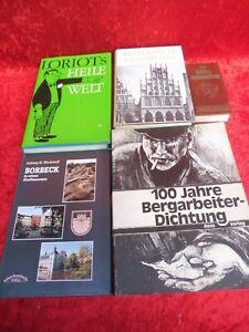 5 vieux Livres : Industrie Minière, Histoire,Borbeck,Loriot,Volksweisheiten