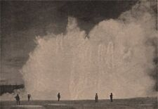 Excelsior Geyser, Yellowstone Park. Wyoming 1885 old antique print picture