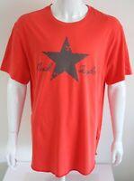 T Shirt Converse Chuck Taylor Mens Graphic Tee Orange 100% Cotton Size XL