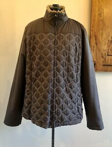 Athleta Grey Quilted Jacket Size 1X
