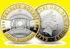 * UK Great Britain 2 pound 2014 Trinity House * Silver Gilded Proof Box RARE !