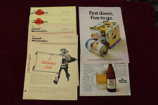 1960 Falstaff Beer Saleman Letters Lot 4 On The Falstaff Route + 2 Falstaff Adds