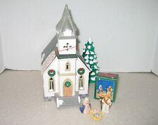 1985 Department 56 Village House All Saints 73-5070 & Light & Bug House Nativity