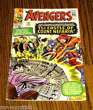 AVENGERS #13 GD-VG STAN LEE STORIES JACK KIRBY & DICK AYERS COVER & ART 1965