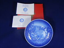 B & G Mother's Day Plate 1999 RABBITS+Original Box+CERTIFICATE (pos-nr. 2)