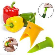 NEU Paprika Samen Strunk Blätter entferner Küche-Werkzeug Paprika Entkerner JUDE