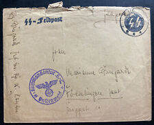 1943 Germany Buchenwald Concentration Camp Commandant Cover Waffen SS Feldpost
