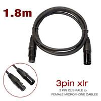 6FT XLR Male to Female 3 PIN MIC Shielded Cable 25ft Microphone Audio Cord MT