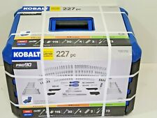 New Kobalt 227 Piece Std & Metric Chrome Mechanics Tool Set LifeTime Warranty!