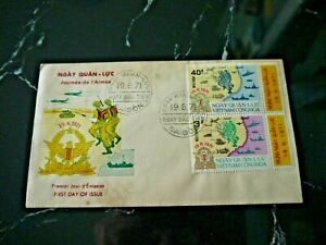 Vietnam Saigon 1971 First Day Cover - Army Day