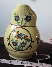 Quimper Faience Creamer/Soleil Yellow/Bird + Flowers/Excellent Condition!