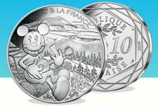 Silver Limited Edition Disney Mickey & La France €10 COIN 16/20 - IN THE UK!