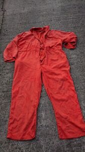 Ladies Or Mens Faulty Use Orange Colour Boilersuit Or Overalls.