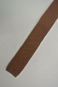 Solid Brown Skinny Slim Wool Trunk Tie