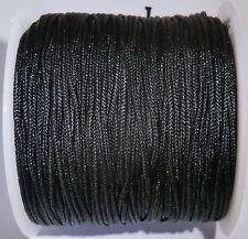 5M fil de nylon , queue de rat , noir 1mm
