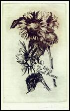 Horvath Hermina C4 Exlibris 2000 Flowers Blumen Feurs Sunflowers s168
