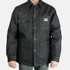 BEN DAVIS CHORE COAT, Original Snap Front Jacket – Black Denim