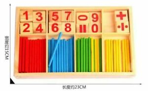 Baby Learning Counting Sticks Education Wooden Toys Building Intelligence Blocks