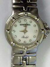 VERY RARE RAYMOND WEIL PARSIFAL LADIES DIAMOND MOTHER OF PEARL DIAL WATCH