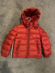 Boys moncler coat Size Age 6 100% Authentic Red Puffa