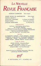 LA NOUVELLE REVUE FRANCAISE n° 296.  Septembre1977. Georges Lambrichs