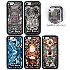 Aztec Animals Personalised Case for iPhone 5 5s SE 6 6s 7 8 PLUS X XS MAX XR
