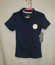 Wonder Nation Girls Sz Xs 4-5 Navy Blue Short Sleeve Polo School Uniform Shirt