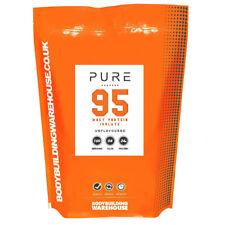 Puro Premium Proteína Aislada de suero Leche Polvo 95% ISO ZERO LACTOSA blanco