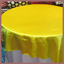 10 Pcs. Tablecloth Round 108 Satin For 5 Feet table Cover Yellow