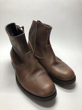 N.D.C. Handmade Brown Leather Zip Ankle Boots Shoes Portugal - Women's EU 37.5
