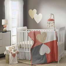 Lambs & Ivy 5 Piece Baby Nursery Crib Bedding Set Dawn with Bumper & Mobile NEW