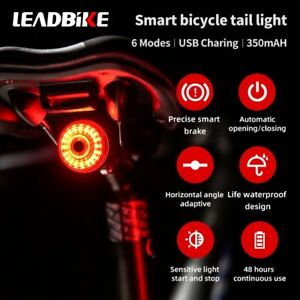 Bicycle Cycling LED Taillight Bike Rear Light Lamp Lantern Smart Brake Sensor