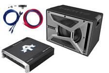 Auto Basspaket Set Bassreflex Subwoofer 2-Kanal Verstärker mit Kabelset 700 Watt