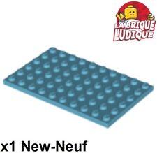 Lego - 1x Plaque Plate 6x10 10x6 azur moyen/medium azure 3033 NEUF