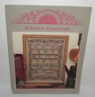 REBECCA TOWNSEND SAMPLER Cross Stitch Chart Leaflet Chester County Collection #9