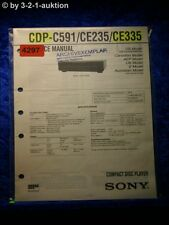 Sony service manual CDP c591/ce235/ce335 CD player (#4297)