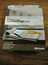 Microsoft Office Front Page 2003,Full,SKU 392-02487,Sealed Retail Box,COA & Key