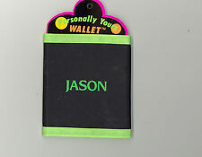 Personally Yours Wallet ~ JASON ~ Stocking Stuffer ~ Black Personalized Wallet