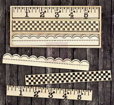 "Prima 960223  ""Borders- Wood Icons""  9 Pieces NEW"