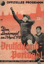 Fußball Football Programm 1938 Deutschland Germany - Portugal DFB REPRINT