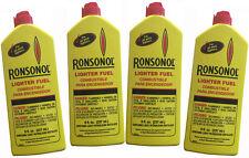 4 Bottles Ronsonol Best Lighter Fuel 8 OZ works with All Wick-Type Lighters
