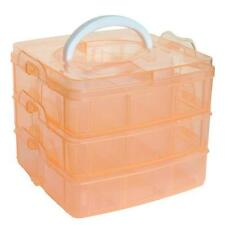Plastic Craft Beads Jewellery Storage Organizer Compartment Tool Box Case R1