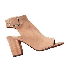 Vionic Orthaheel PERK BLAKELY Leather Heeled Sandals  Light Tan Size 6.5W NIB