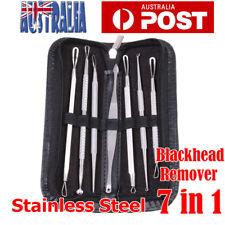 7Pcs Set Blackhead Extractor Tool Remover Pimple Blemish Comedone Kit Acne Tool